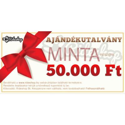RideShop.hu Ajándékutalvány 50.000 Ft értékben